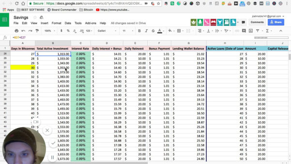 Bitconnect Compound Interest Spreadsheet With Regard To Sheet Compoundnterest Spreadsheet Bitconnectnton One Y On Fresh