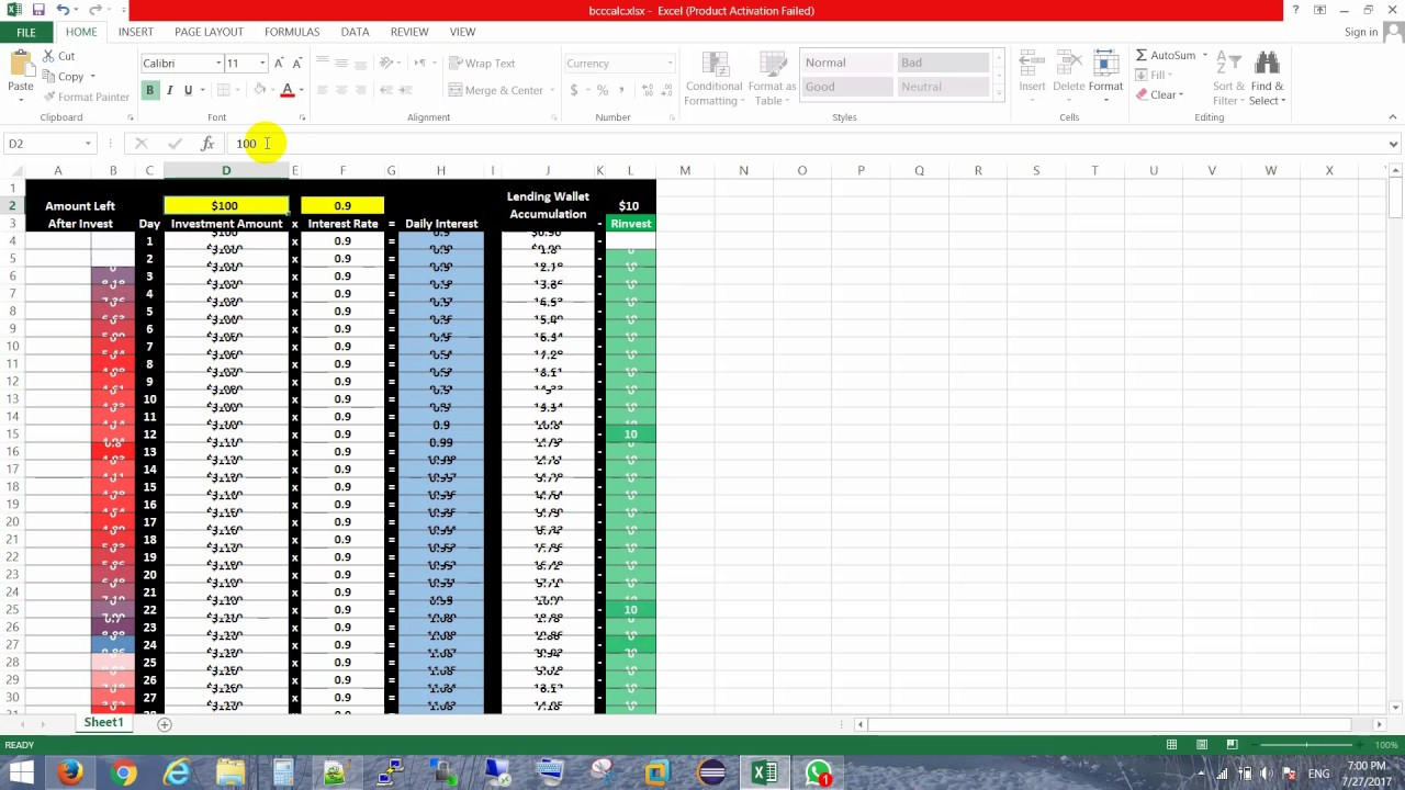 Bitconnect Compounding Interest Spreadsheet Intended For Compound Interest Spreadsheet Bitconnect Into In One Year  Pywrapper