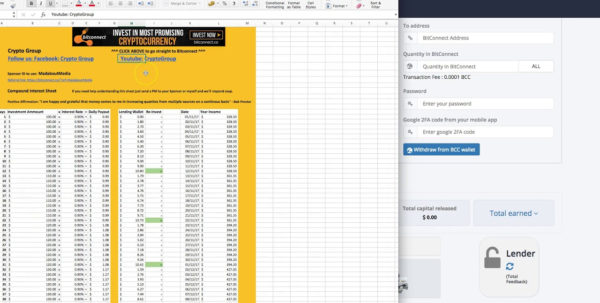 Bitconnect Compounding Spreadsheet In Bitconnect Compounding Spreadsheet Free Download Compound Interest