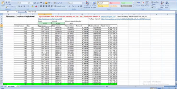 Bitconnect Compounding Spreadsheet Pertaining To Bitconnect Compounding Spreadsheet Online Machine Free  Pywrapper