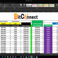 Bitconnect Reinvest Spreadsheet With Regard To Bitconnect Compounding Spreadsheet Examples Free Calculator Download
