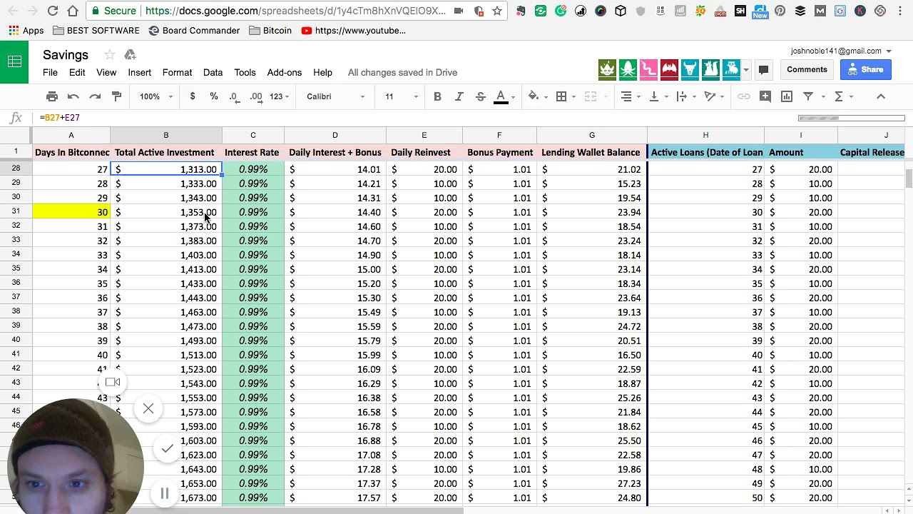 Bitconnect Reinvest Spreadsheet Within Sheet Compoundnterest Spreadsheet Bitconnectnton One Y On Fresh