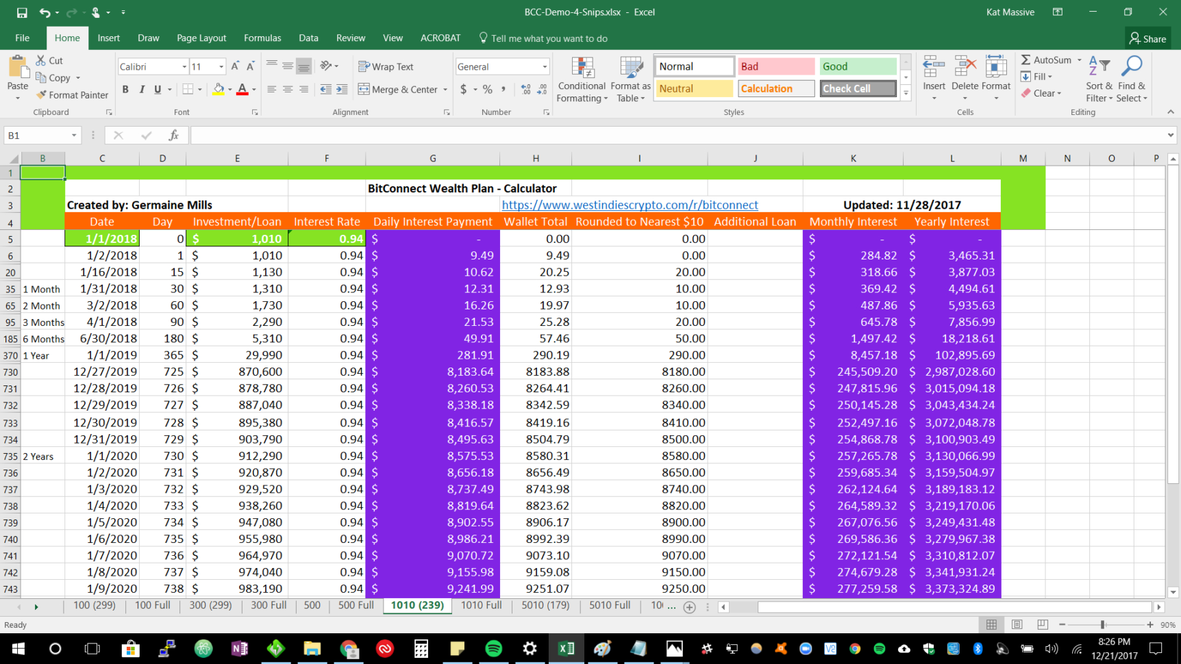 Bitconnect Spreadsheet Pertaining To Bitconnect Spreadsheet  West Indies Crypto