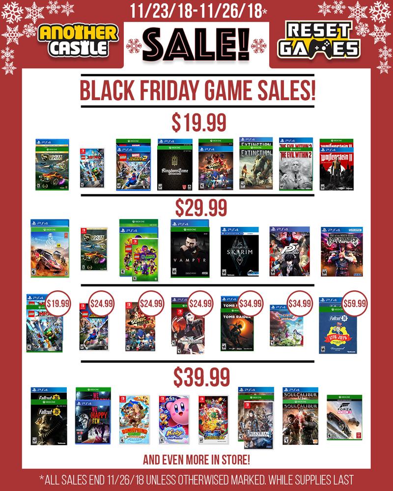 Black Friday Spreadsheet Throughout Black Friday Is Here!  Another Castle Video Games