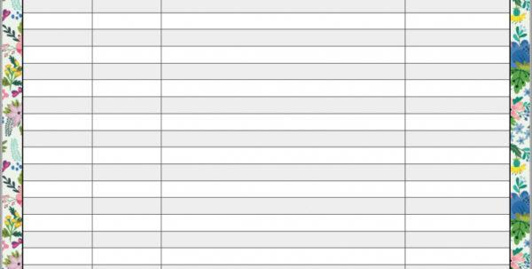 Blank Budget Spreadsheet Inside Free Printable Budget Worksheet Template Expense Sheet Charlotte