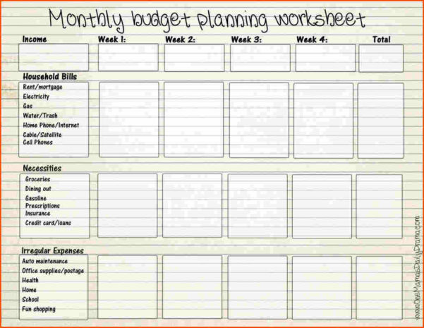 Blank Budget Spreadsheet Pertaining To Printable Weekly Budget Planner  Homebiz4U2Profit