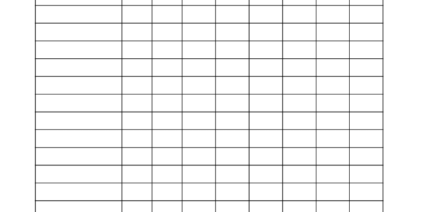 Blank Spreadsheet For Teachers Pertaining To Blank Checklist Template For Teachers  Corner Of Chart And Menu