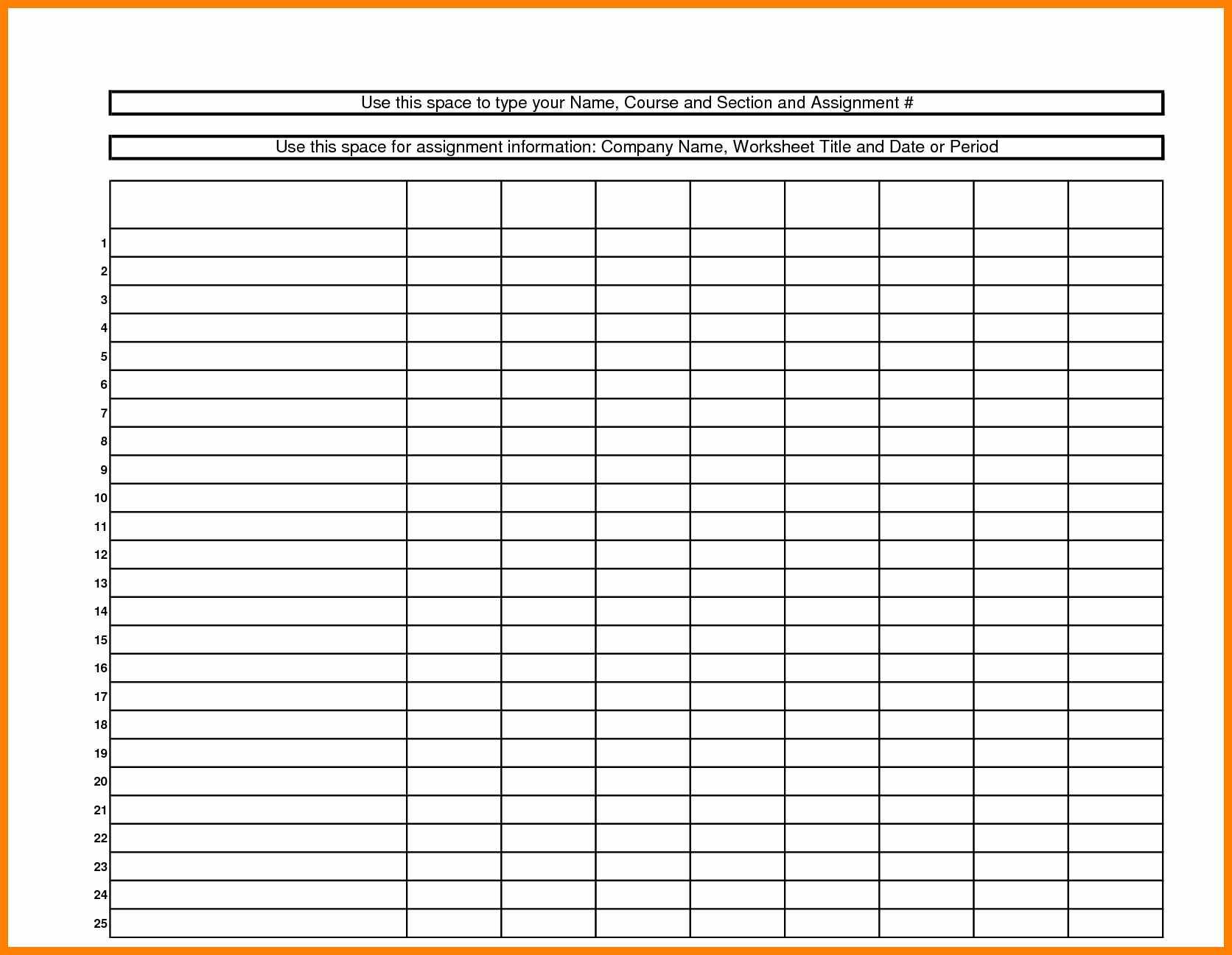 Blank Spreadsheet Free Inside 5  Free Printable Blank Spreadsheet  Credit Spreadsheet