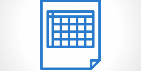 Blank Spreadsheet Pertaining To Blank Spreadsheet Icon Simple Line Style Vector Image