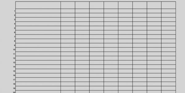 Blank Spreadsheet Templates Printable Throughout Best Printable Blank Spreadsheet Templates Free Winkd Co  2018