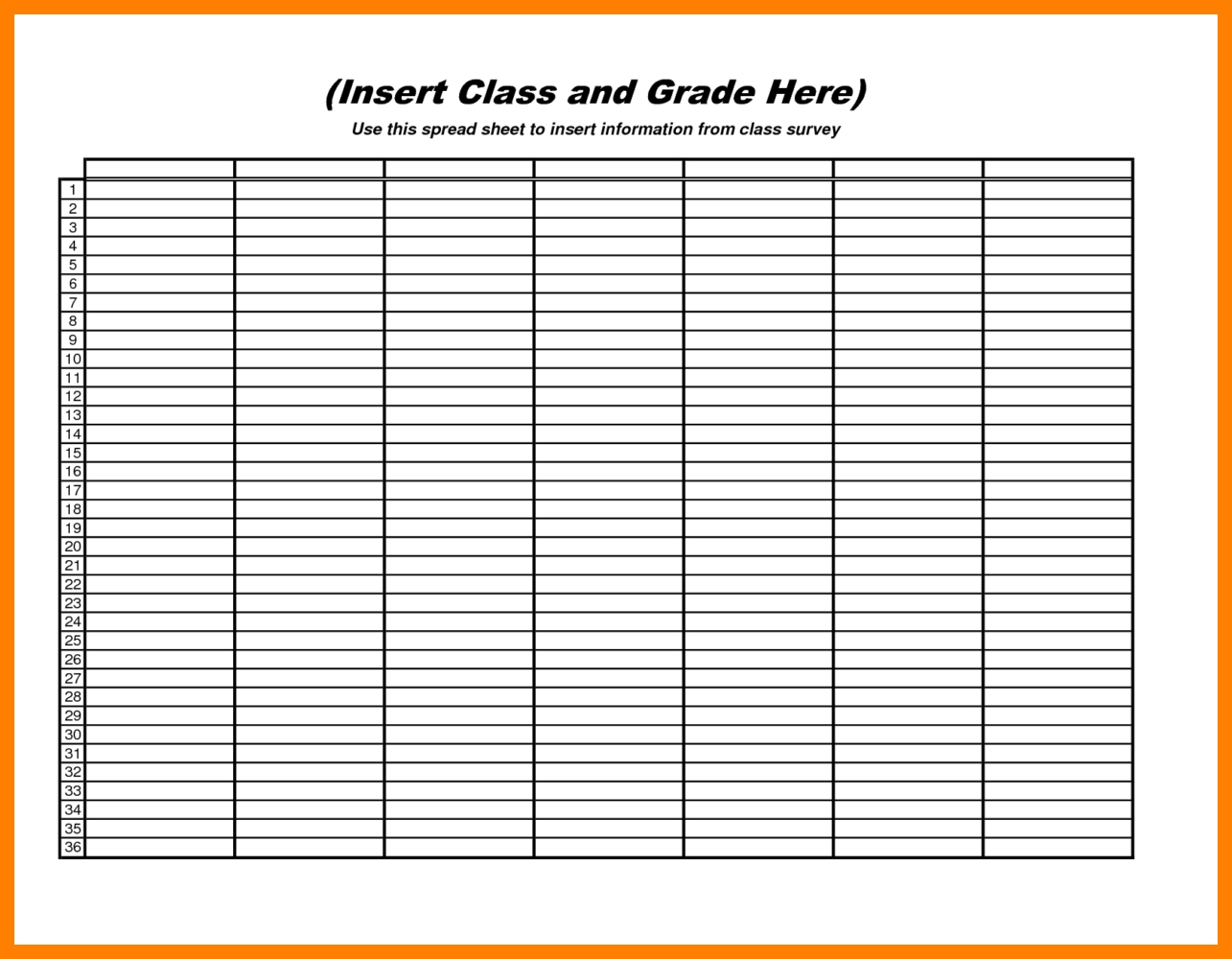 Blank Spreadsheet To Print With Blank Spreadsheet Printable Bunch Ideas For Templates Of Sheets To