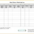 Blood Test Spreadsheet Intended For Blood Glucose Test Log  Rent.interpretomics.co