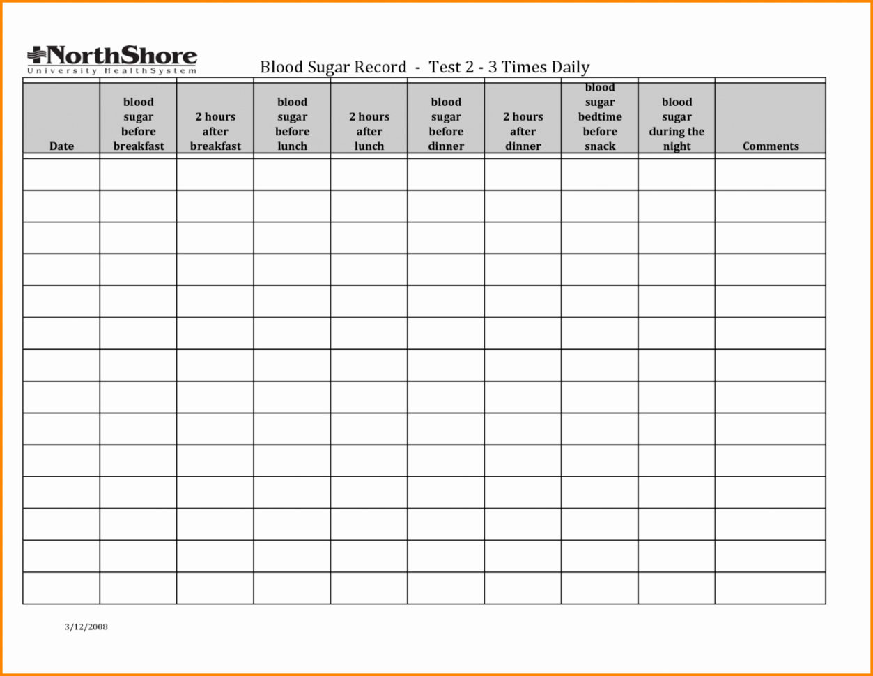 Blood Test Spreadsheet Throughout Blood Sugar Spreadsheet For Blood Sugareadsheet Log Diabetes Glucose