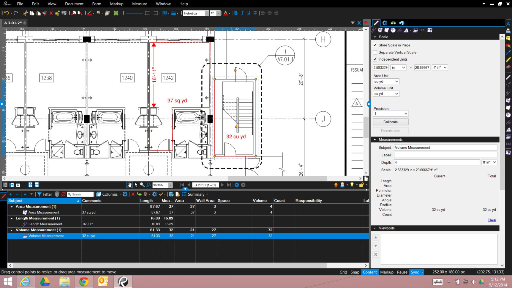 Bluebeam Spreadsheet With Takeoff  Carol's Construction Technology Blog