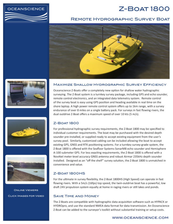 Boat Costs Spreadsheet Intended For Zboat 1800 Spec Sheet 1  The Oceanscience Group  Pdf Catalogs