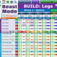 Body Beast Meal Plan Spreadsheet With Excel Workout Tool For Body Beast