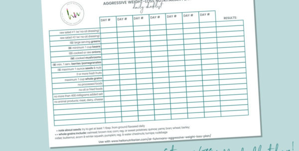 Body For Life Meal Plan Spreadsheet Inside Dr. Fuhrman's Aggressive Weight Loss Plan  Hello Nutritarian