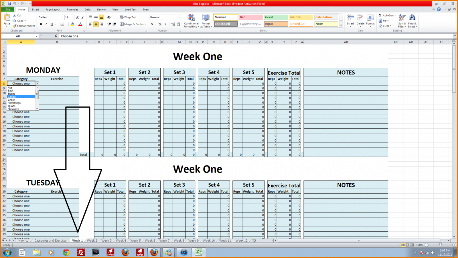 Bodybuilding Excel Spreadsheet In 2Qpdf Spreadsheet Examples Bodybuilding Excel Workout Truetural
