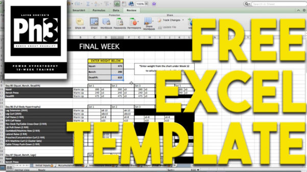 Bodybuilding Excel Spreadsheet With 2Qpdf Spreadsheet Examples Bodybuilding Excel Workout Truetural