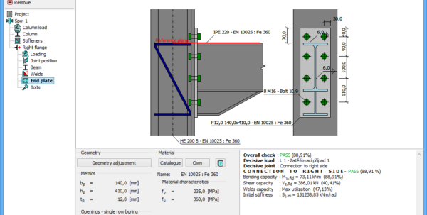 Bolted Joint Analysis Spreadsheet Throughout Steel Connection  Structural Software Fin Ec  Fine