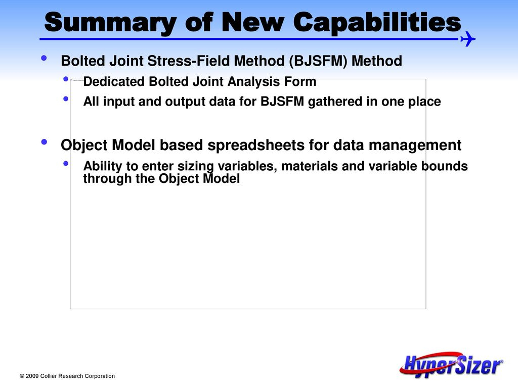 Bolted Joint Analysis Spreadsheet Within Hypersizer Version New Features And Software Enhancements  Ppt Download