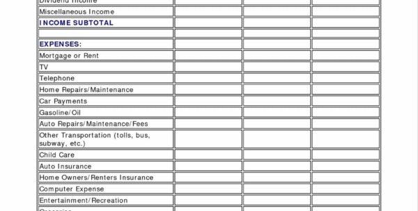 Bonus Spreadsheet Template Pertaining To Excel Spreadsheet Template For Personal Expenses Or Monthly Expense