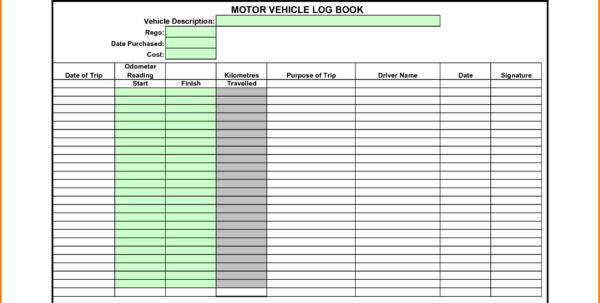 Book Spreadsheet For Vehicle Log Book Spreadsheet  Rent.interpretomics.co