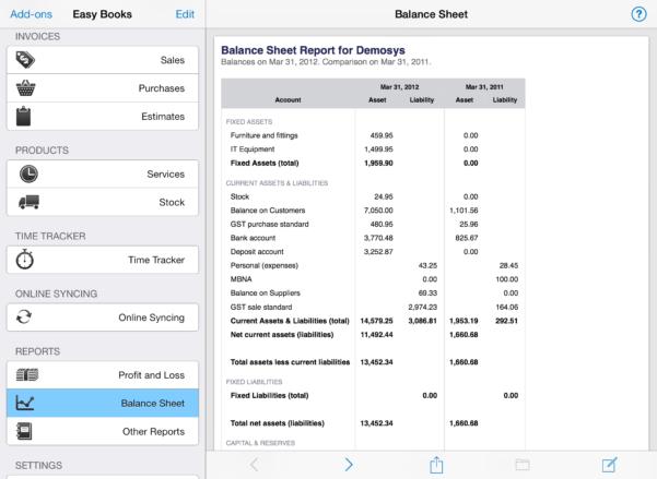 Bookkeeping Spreadsheet For Musicians For Easy Books For Ios  Easy Books