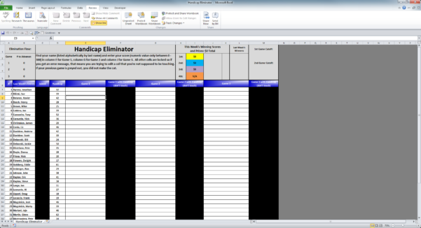 Bowling Handicap Spreadsheet For Bowlingchat • View Topic  Eliminator Excel Software For Sale