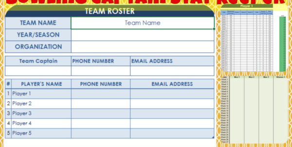 Bowling Handicap Spreadsheet With Bowling Captain Stat Keeper  Etsy Bowling Handicap Spreadsheet Google Spreadsheet