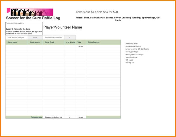 Bowling Prize Fund Spreadsheet Within Pledge Sheet Template Free Walkathonnation Word Spreadsheet