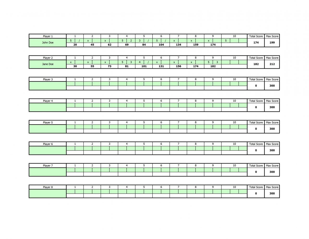 Bowling Stats Spreadsheet Intended For Bowling Scoring Sheet Excel  Cheapscplays Bowling Stats Spreadsheet Printable Spreadshee Printable Spreadshee bowling stats spreadsheet