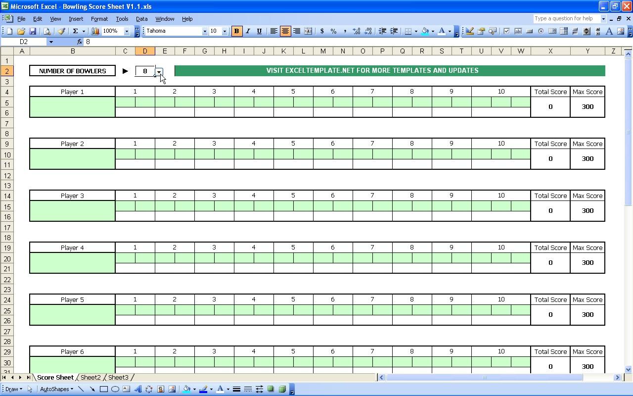 Bowling Treasurer Spreadsheet Regarding Bowling Score Sheet  Excel Templates Bowling Treasurer Spreadsheet Printable Spreadshee Printable Spreadshee bowling treasurer spreadsheet