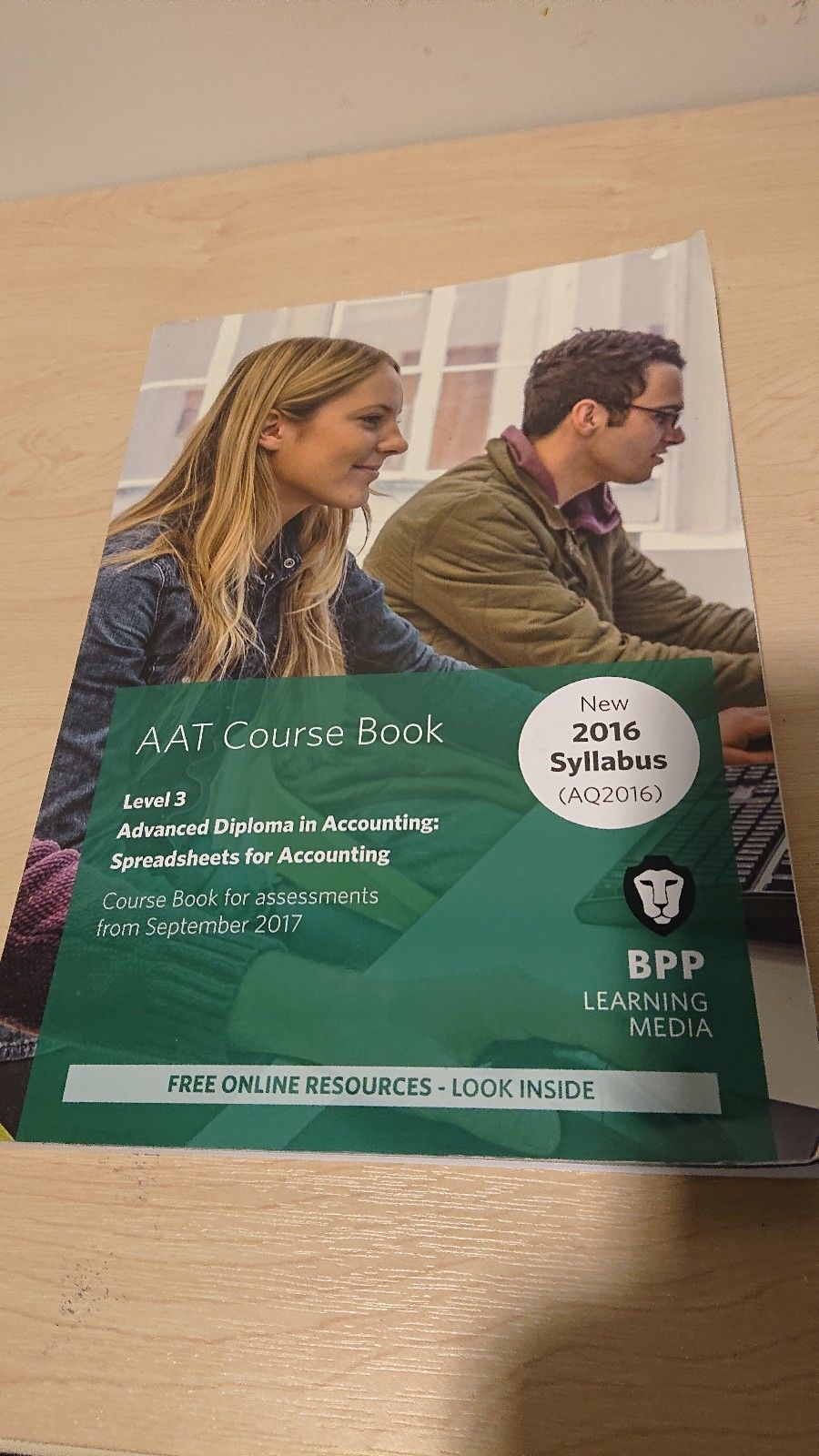 Bpp Aat Spreadsheets In Aat  Spreadsheets For Accountingbpp Learning Media Paperback