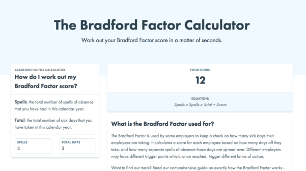Bradford Factor Spreadsheet With Charliehr  The Bradford Factor Calculator