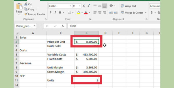 Break Even Spreadsheet Regarding How To Do A Break Even Chart In Excel With Pictures  Wikihow