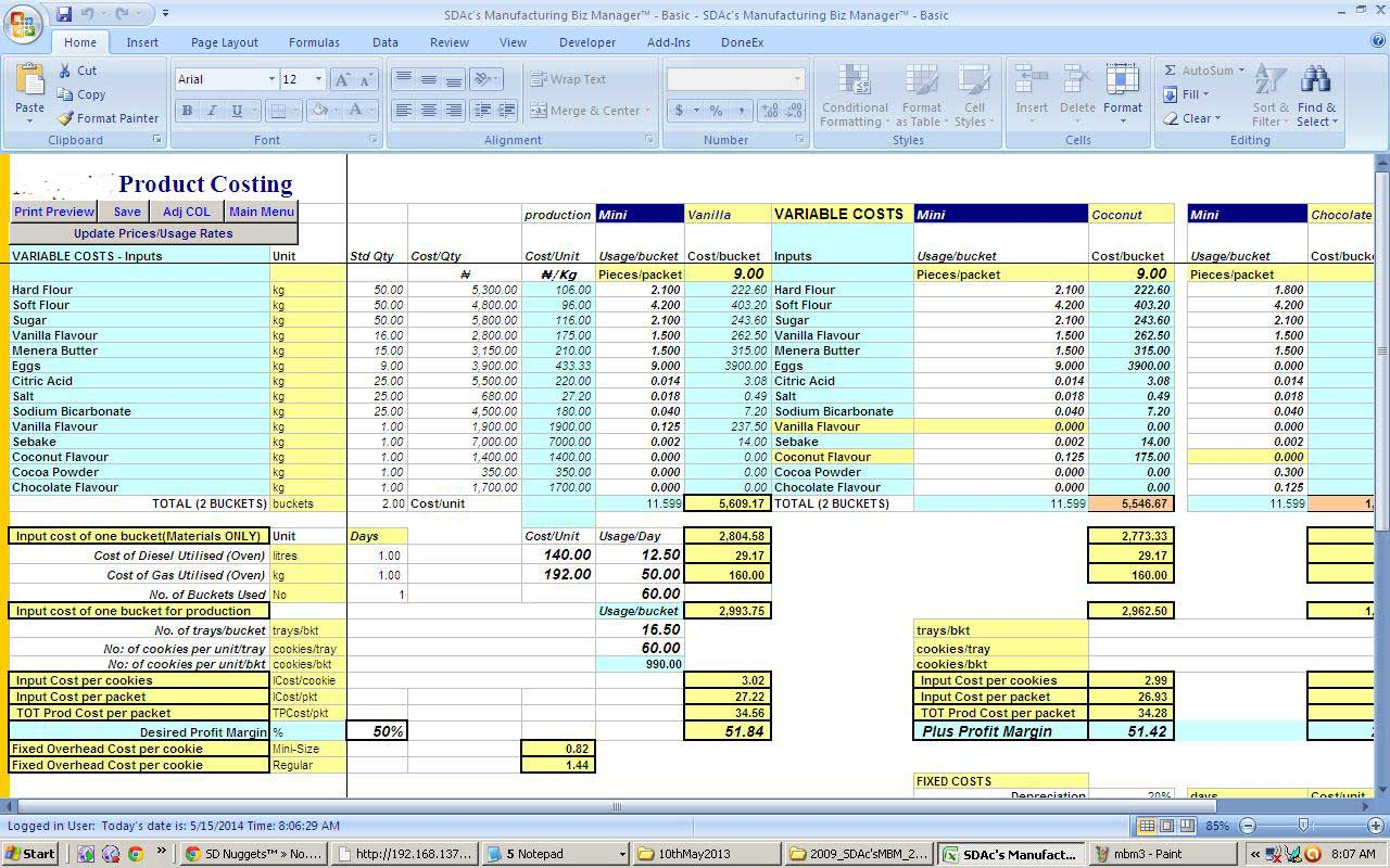 Brewery Inventory Spreadsheet With Regard To Brewery Cost Spreadsheet Examples Mbm4 Pii Make Money Selling