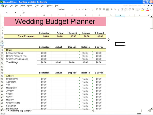 Bridal Budget Spreadsheet For Best Wedding Budget Spreadsheet 2  Discover China Townsf