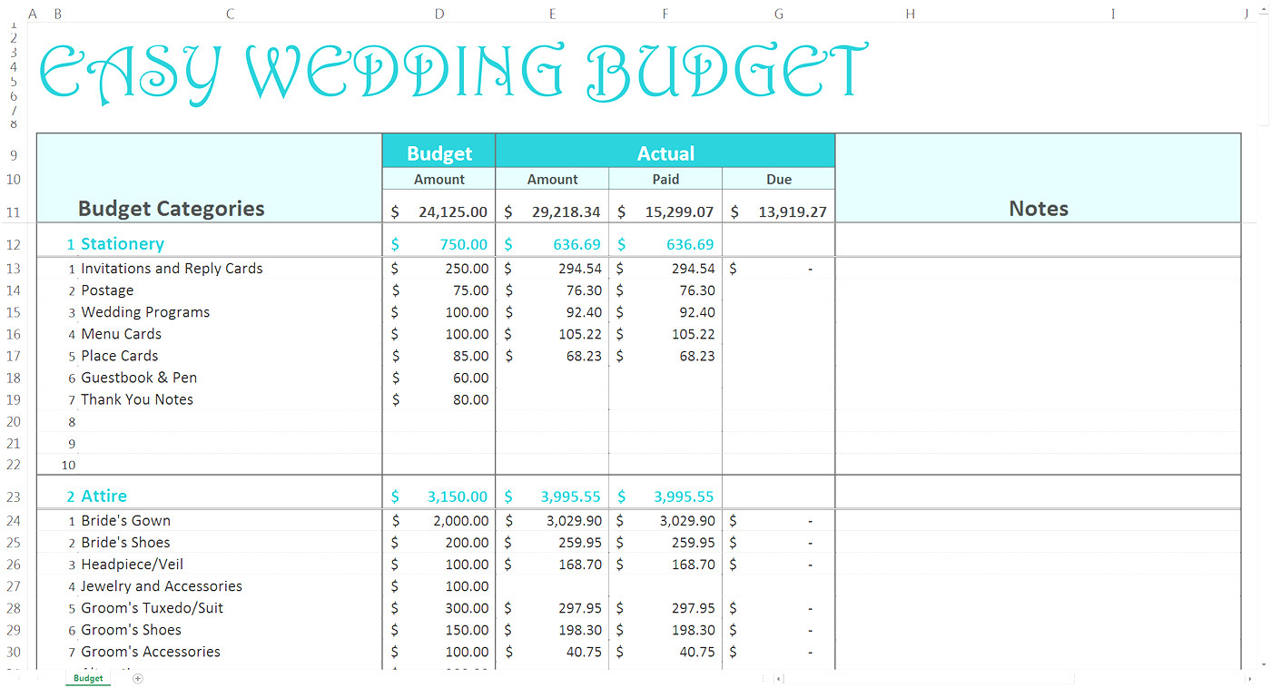 Bridal Budget Spreadsheet Regarding Best Wedding Budget Spreadsheet Filename  Discover China Townsf
