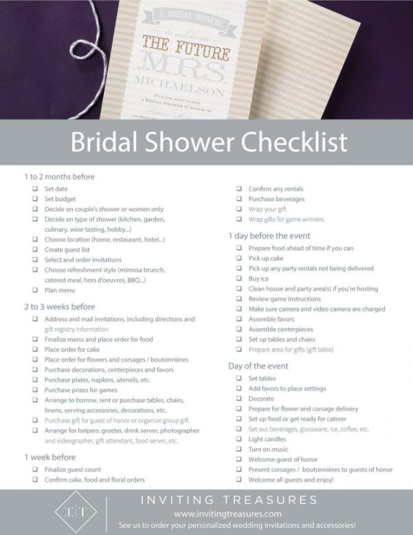 Bridal Shower Planning Spreadsheet Inside Bridal Shower Planning Design Templates Checklist Template Excel