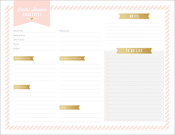 Bridal Shower Planning Spreadsheet Pertaining To Free Printables For Bridal Shower Planning