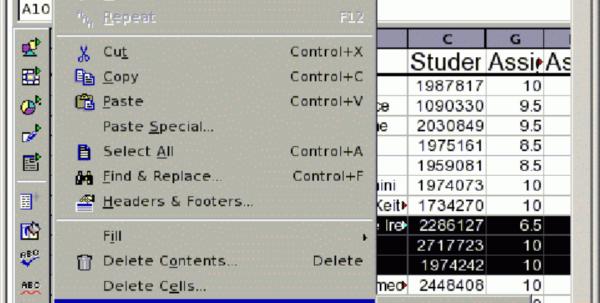 Browser Spreadsheet Regarding Telltable Spreadsheet Editing Screen. The Spreadsheet Software Is