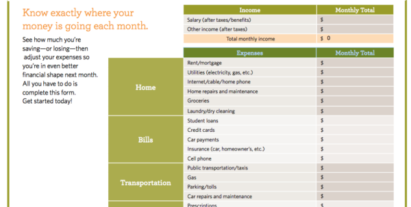 Budget And Expense Spreadsheet For 9 Useful Budget Worksheets That Are 100% Free