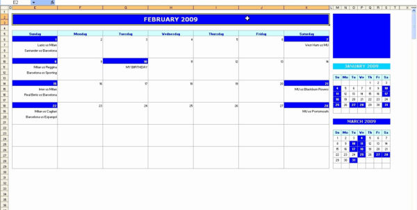 Budget Calendar Spreadsheet In Template 5 2017 Calendar For Excel Months Horizontally 2 Pages