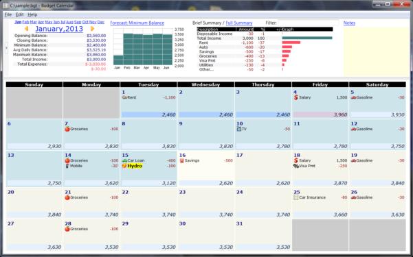 Budget Calendar Spreadsheet Intended For Untitled Document