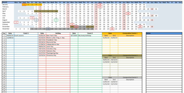 Budget Calendar Spreadsheet With Budget Calendar Excel Template