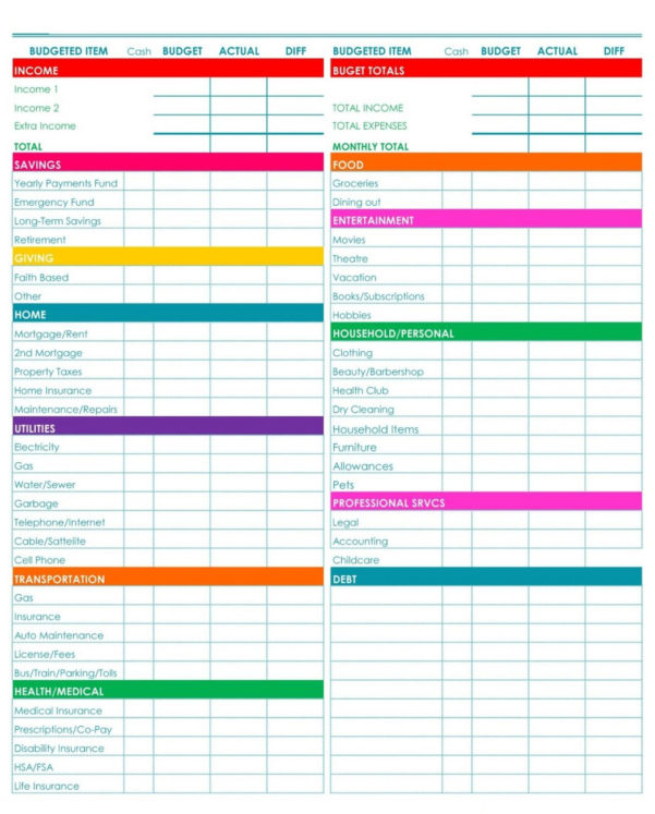 Budget Calendar Spreadsheet With Free Monthly Budget Template 2019 Printable Calendar Templates Excel