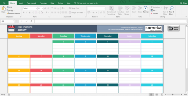 Budget Calendar Spreadsheet With Regard To Excel Calendar Templates  Download Free Printable Excel Template