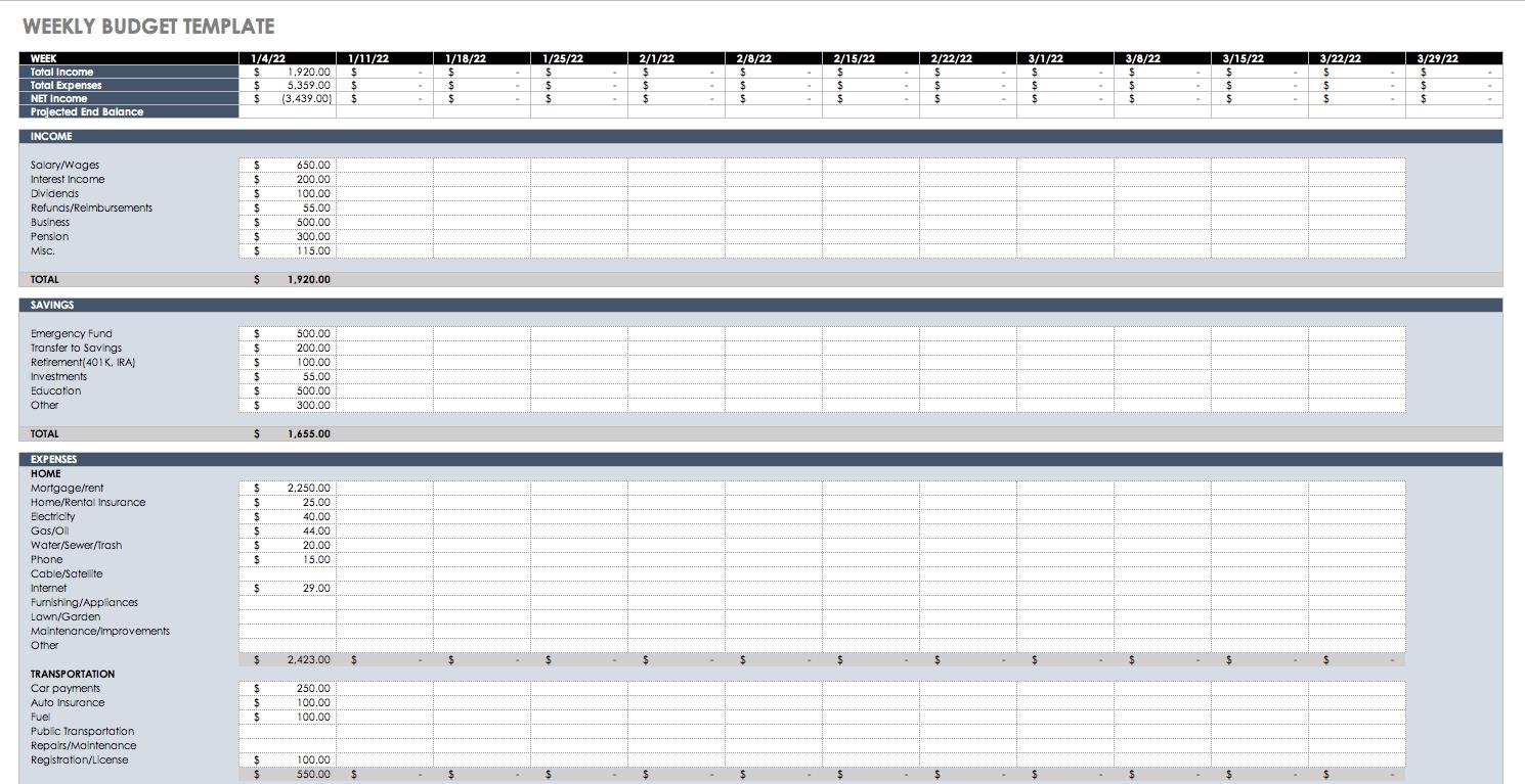 budget planner spreadsheet template spreadsheet downloa