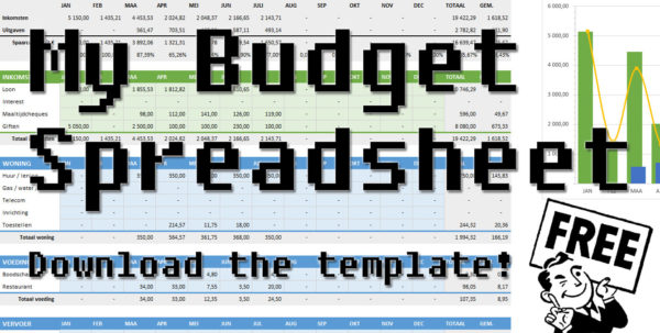 Budget Spreadsheet Download Regarding How I Keep Track Of My Budget, Free Template  No More Waffles